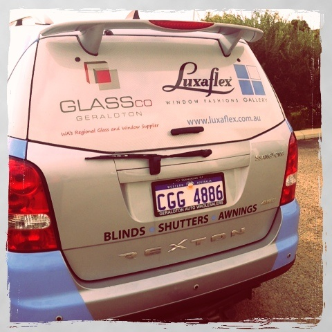 Glass Co branded car