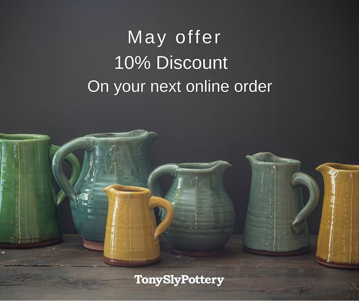 tony-sly-pottery head to our website to claim your discount today! May only