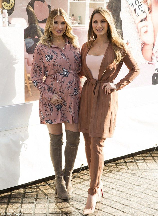 My Faiers ladies: (L-R) Billie and Sam Faiers attended a photocall to promote their new beauty range for their brand Minnie's in London's South Bank on Tuesday afternoon