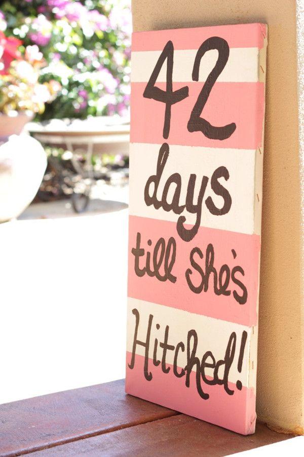 coral striped bridal shower signs for outdoor wedding shower parties  #BridalShower #ElegantWeddingInvites