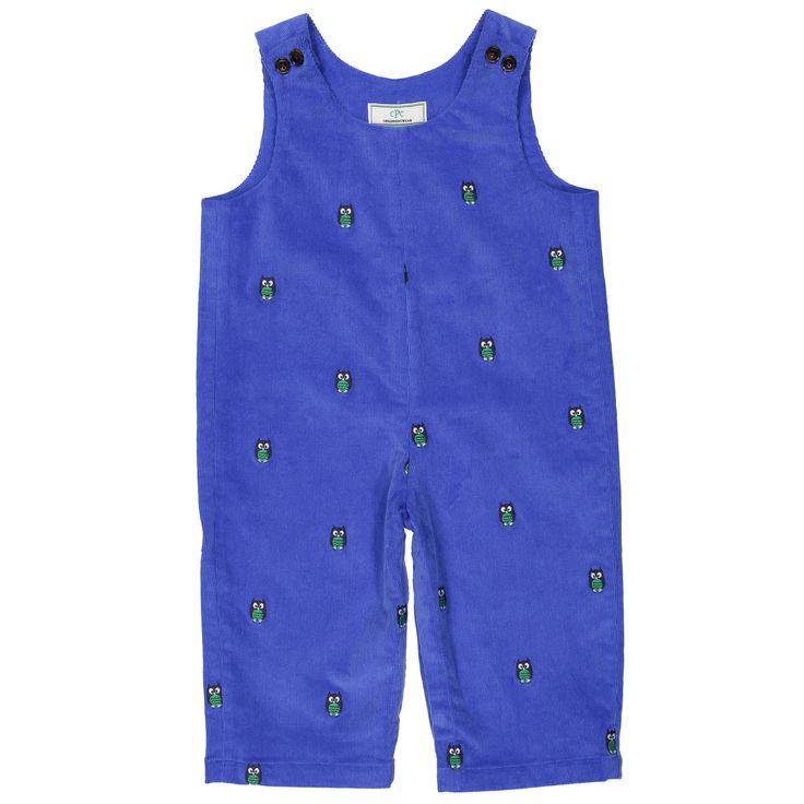 Owl Embroidered Tucker Overalls