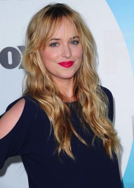 "Dakota Johnson. Set to play Anastasia in the film adaption of ""Fifty Shades of Grey""."