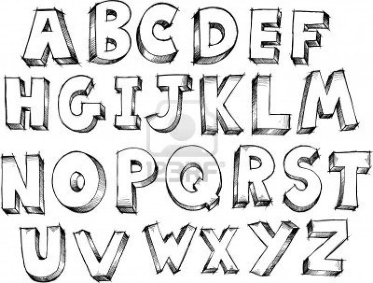 Sketch Doodle Alphabet Letters Vector Illustration Stock Photo