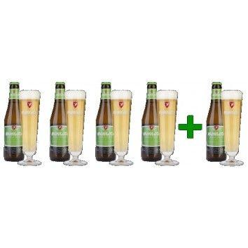Μπύρα Premium Pilsener 0.33lt Mongozo 4+1 Δώρο