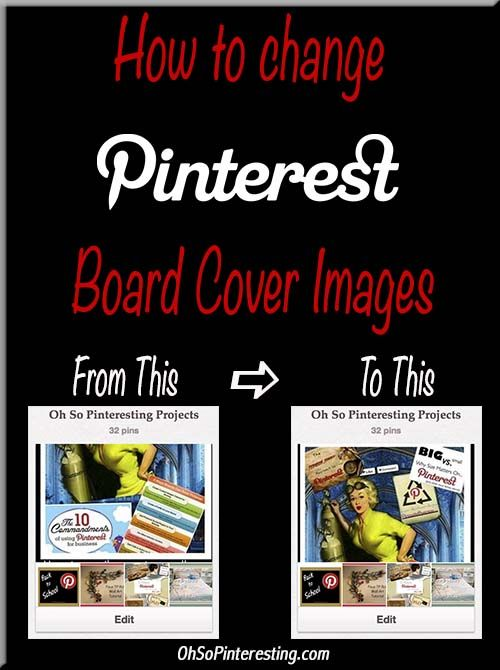 You only have one shot to make a first impression, right? The same goes for your Pinterest boards. How to change your board cover image.