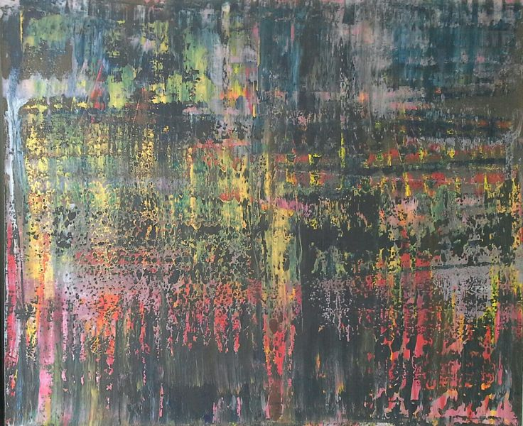 Abstract art by Canadian artist Robert Martin Abstracts. Title Astray 39x47x1.5in. Bali collection #4 Acrylic on canvas