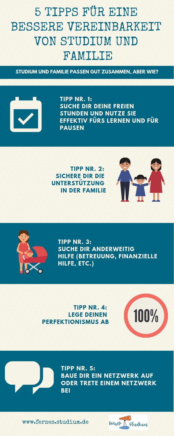 5 Tipps für eine bessere Vereinbarkeit von Studium und Familie
