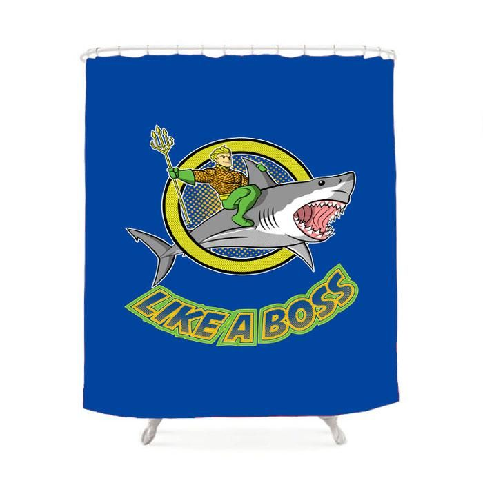 Aquaman Like A Boss Shower Curtain Tapestry Curtains