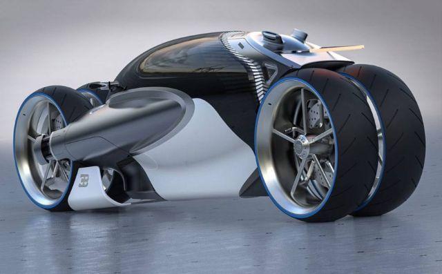 Bugatti Type 100m Bike Concept Motociclete