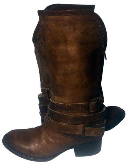 FreeBird Brown Leather Western Motorcycle Damenstiefel / -stiefeletten Größe US 6 …   – Motorcycle boots Riding Boots Biker Boots