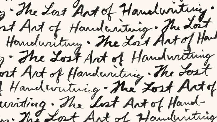 In pursuit of - the lost art of handwriting