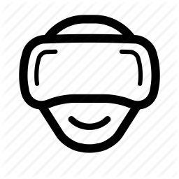 head, headset, oculus, reality, rift, virtual, vr icon