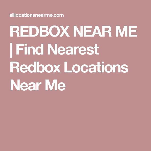 REDBOX NEAR ME | Find Nearest Redbox Locations Near Me