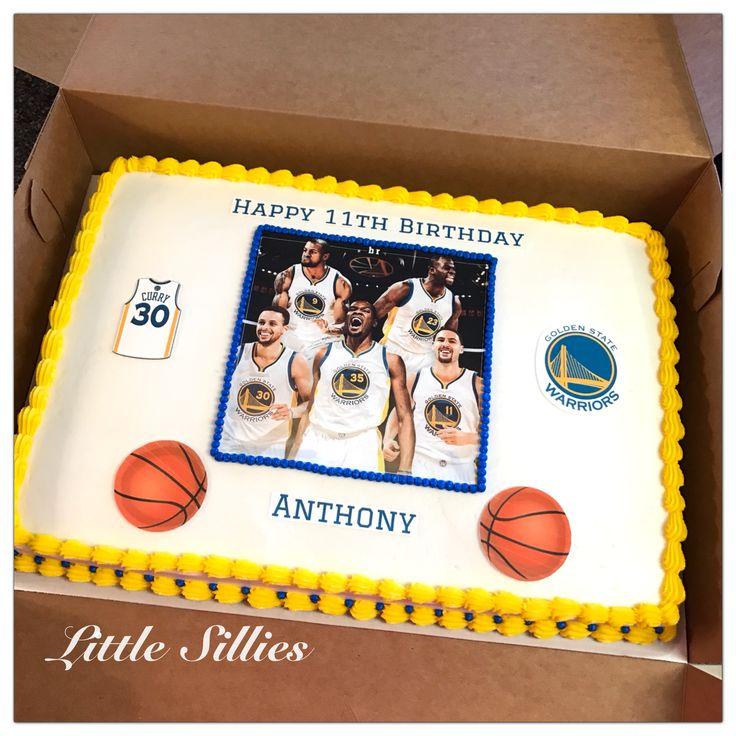 A Golden State Warriors sheet cake