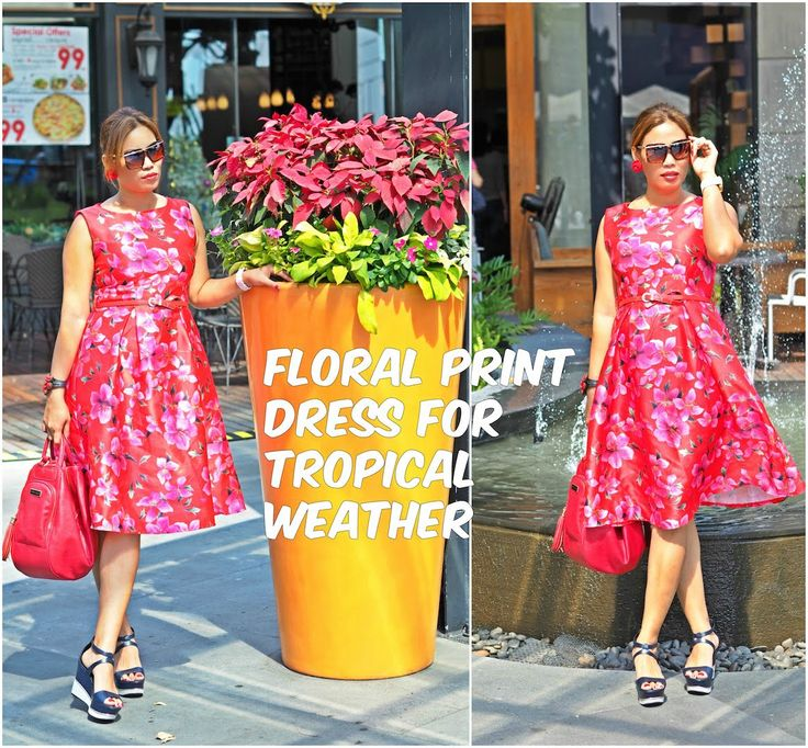 Floral Print Dress For Tropical Weather