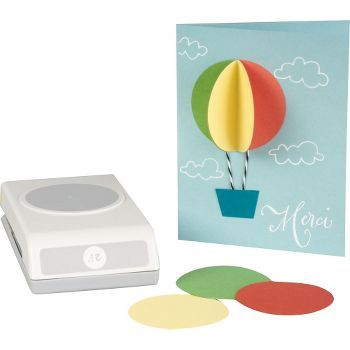 This handy punch easily creates large circle shapes that you can use for card making, gift tags and scrapbook pages. Lockable feature allows for compact, easy stackable storage.<br /><br />Punch size