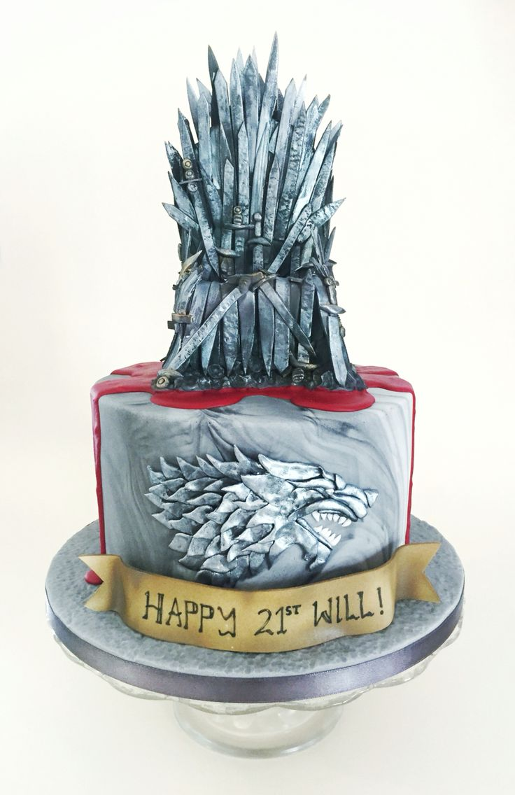 Game of Thrones birthday cake by Bird Bakes …