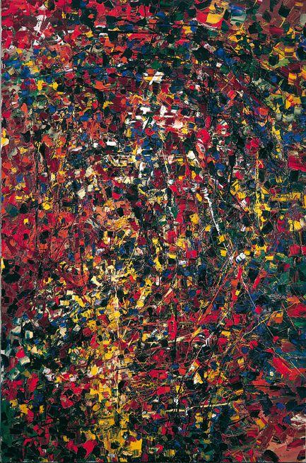 Jean Paul Riopelle, Portrait de forêt, 1951, huile sur toile, 195 x 130 cm
