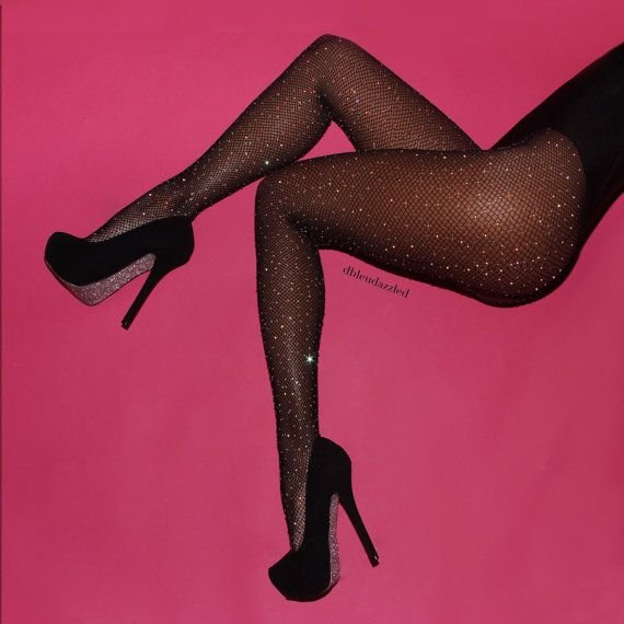 Somone buy me these please? Crystalized black fishnet stockings. SO SPARKLY!