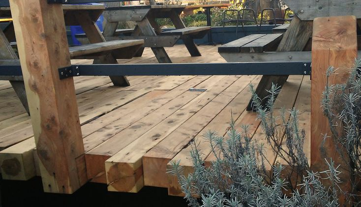 Landscape Timbers Portland Or : Juniper rough landscaping timbers transformed so beautiful