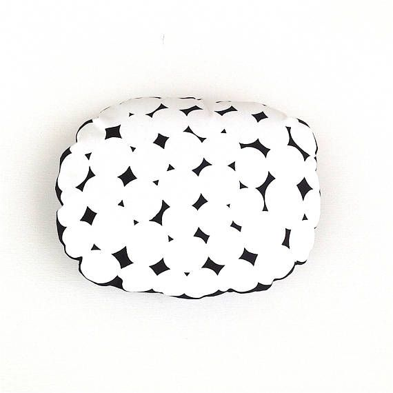 White Cushion Cover. Scandinavian White Spot Cushion. Funky