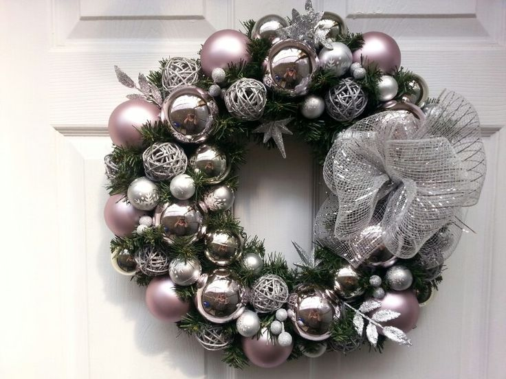 Champagne pinks with greys and silvers. Everyone is asking for this!