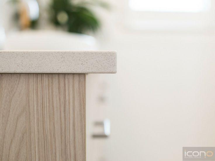 Detail shot of bathroom bench. #bathroom #iconobuildingdesign