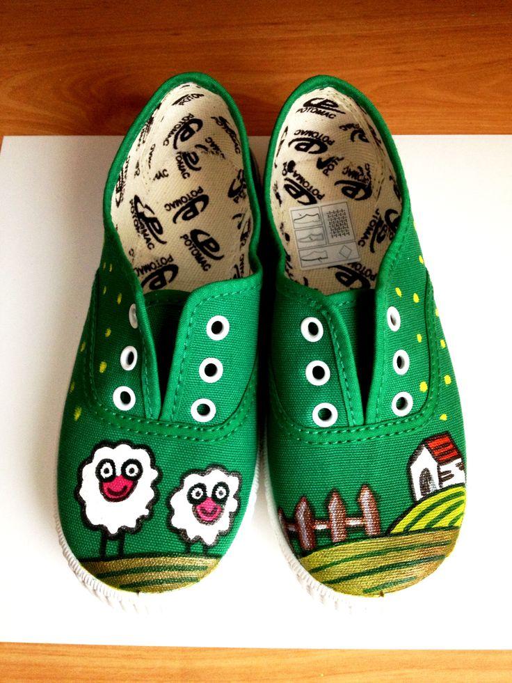 Zapatillas pintadas a mano!