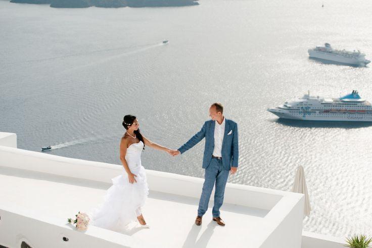 On the top of Santorini   Wedding Photographer Teodora Simon