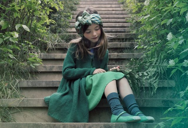 Green on green tones for girls fashion fall/winter 2013 from Luna Magazine