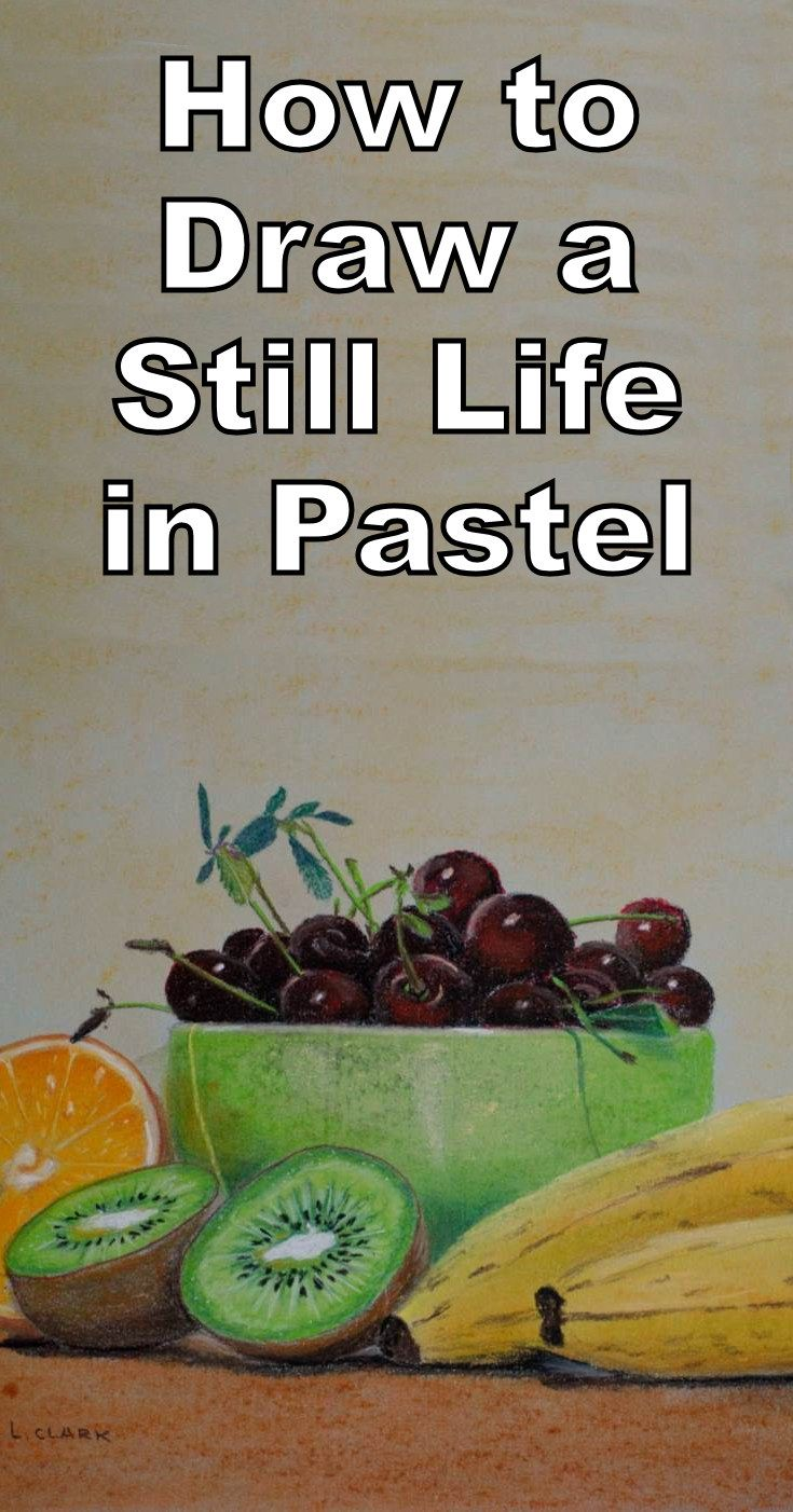 Learn how to draw a still life with fruit in this pastel drawing tutorial. The still life includes cherries, oranges, kiwi fruit as well as bananas. This is a free online art lesson.