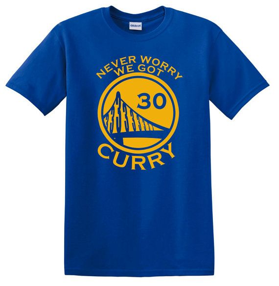 Stephen Curry Never Worry we got Curry Blue Shirt by duceTWO