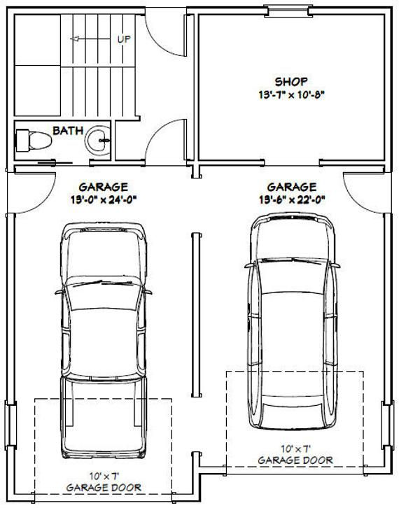 28x36 House 2 Bedroom 1 5 Bath 1170 Sq Ft Pdf Floor Etsy Floor Plans House 2 How To Plan