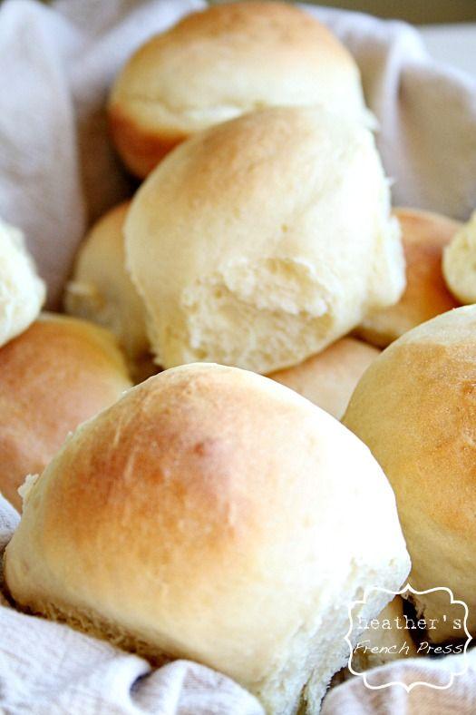 30 minute rolls made with Greek yogurt heathersfrenchpress.com #rolls#baking