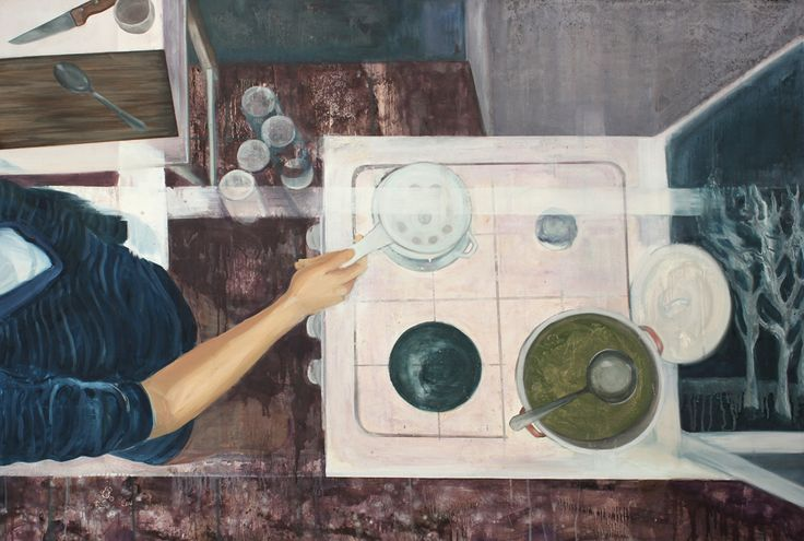 Percolation oil on canvas 2013 100x 150 cm