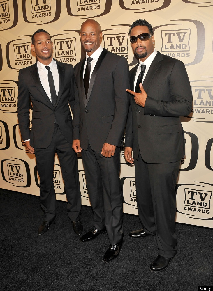 Marlon Wayans, Keenen Ivory Wayans and Shawn Wayans...rumor has it that my son Jay's aunt was one of their's housekeeper...or so she said.