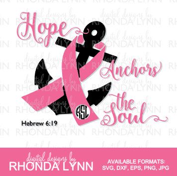 Hope Anchors The Soul Svg Dxf Eps Png Jpg Cut File