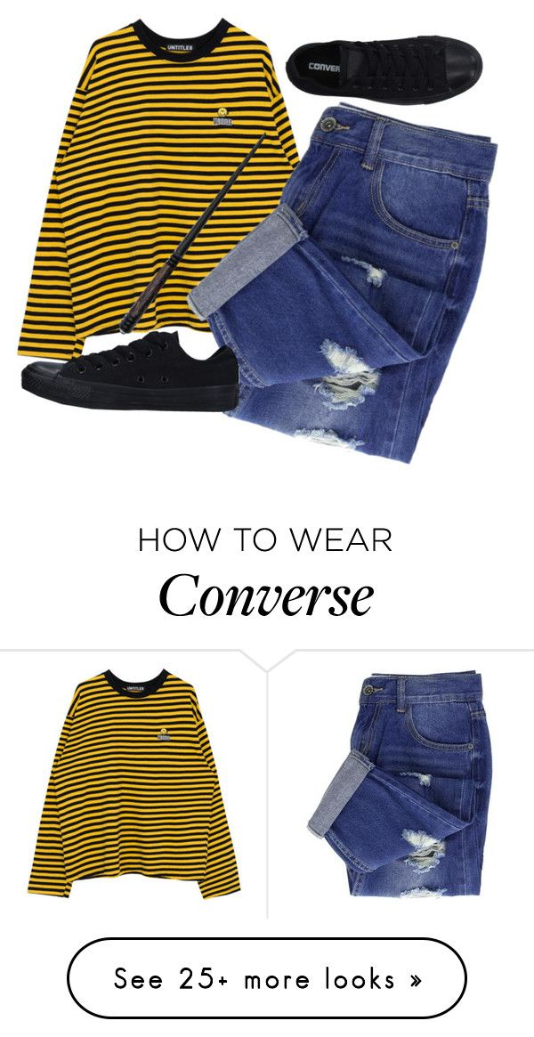 """Train ride"" by aries999 on Polyvore featuring Converse"