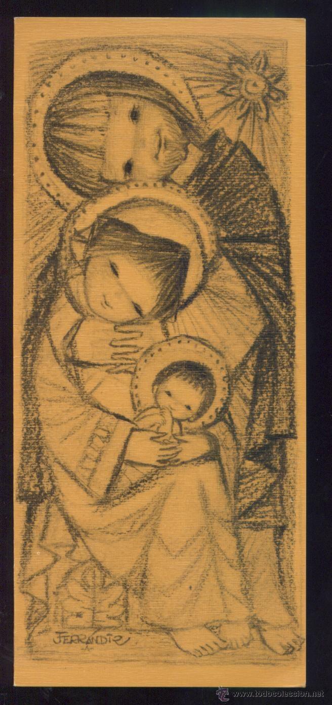 FELICITACION NAVIDAD *FERRANDIZ*- 1966 (22,5 X 9,5 CM) (Postales - Navidad)
