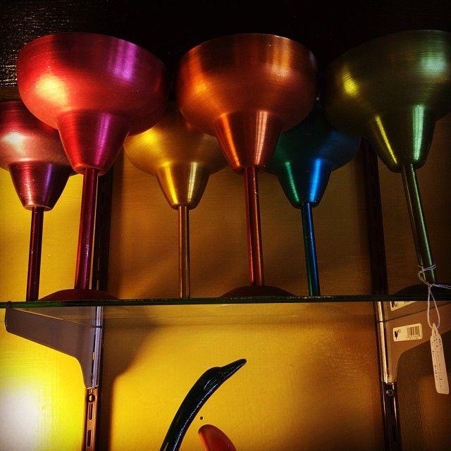 Metal Midcentury Wine Glasses