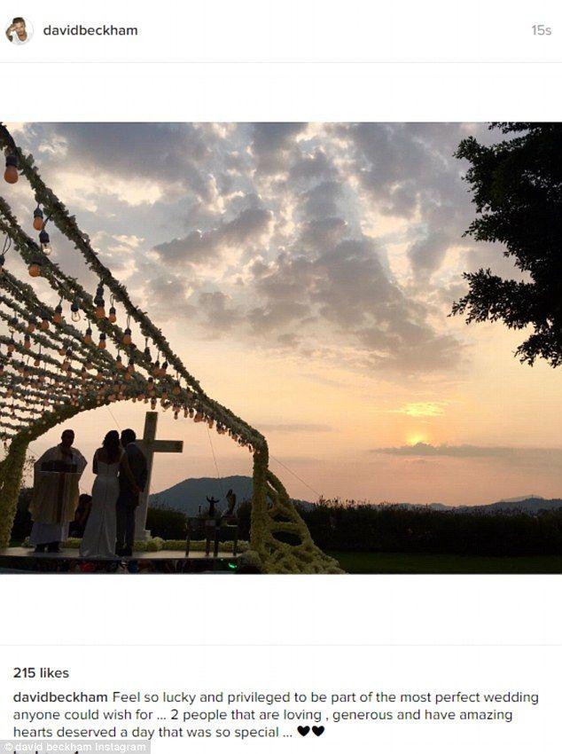 Picturesque wedding: David Beckahm shared a photo on Instagram from Eva's wedding...