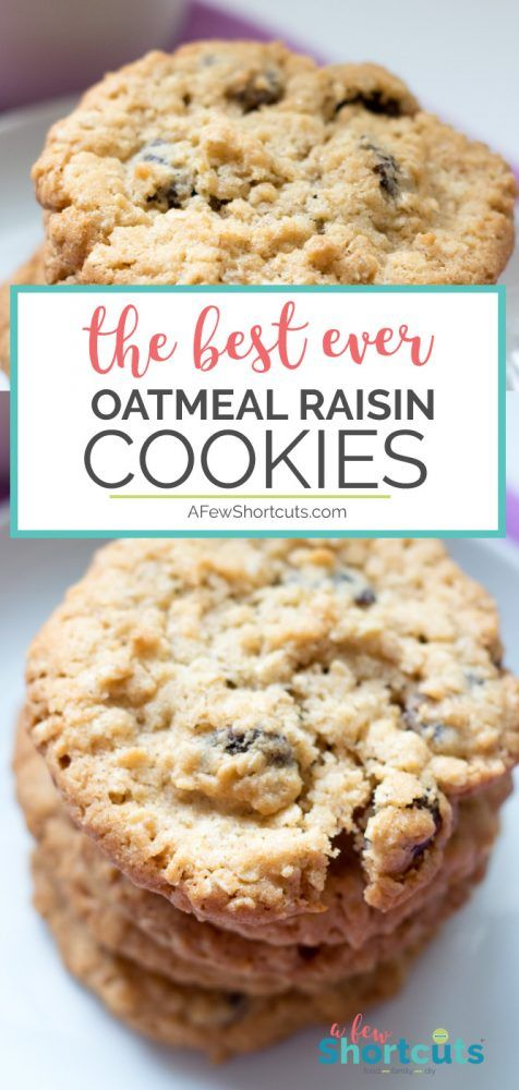 This is the Best Ever Oatmeal Raisin Cookies Recipe! These turn out perfectly every time. Plus there are gluten-free and dairy free options!
