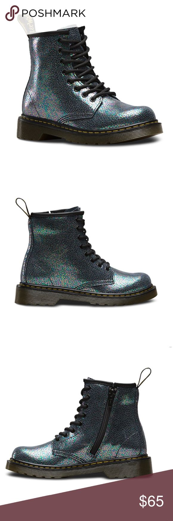 Dr. Martens Delaney Glitter brand new never worn dr. Martens Delaney glitter size 5 boots. Does not come with the box. Let me know if you have any questions (: Dr. Martens Shoes Combat & Moto Boots
