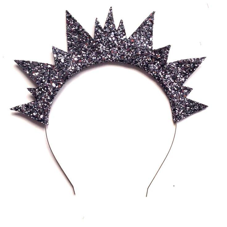 Image of Elbie Crown Headband - Gunmetal