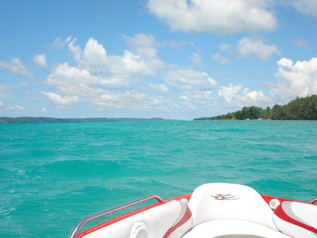 Inflatable Boat Lake Michigan