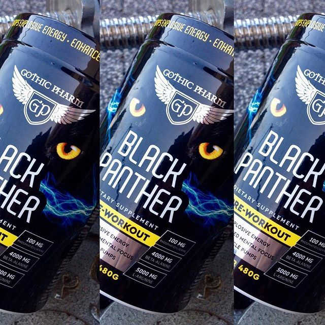 Finally‼️ a gym partner that will Push you to the max Amount of Caffeine, 5000mg L-arginine, 4000mg Beta-alanine 100mg Phosphatidylserine + Many more unique botanical ingredients ...  Push past every goal you've  www.gothicpharm.com  #gothicpharm #gothicpharmteam #blackpanther #preworkout #bodybuilding #instafit #fitness #fitnessmotivation #shredded #gymboy #gymtime #gymlife #fitnessfreak #fitnessmodel #strength #silownia #enginneredlife #fashionmen #fashion #stack #fitbody #eatclea...