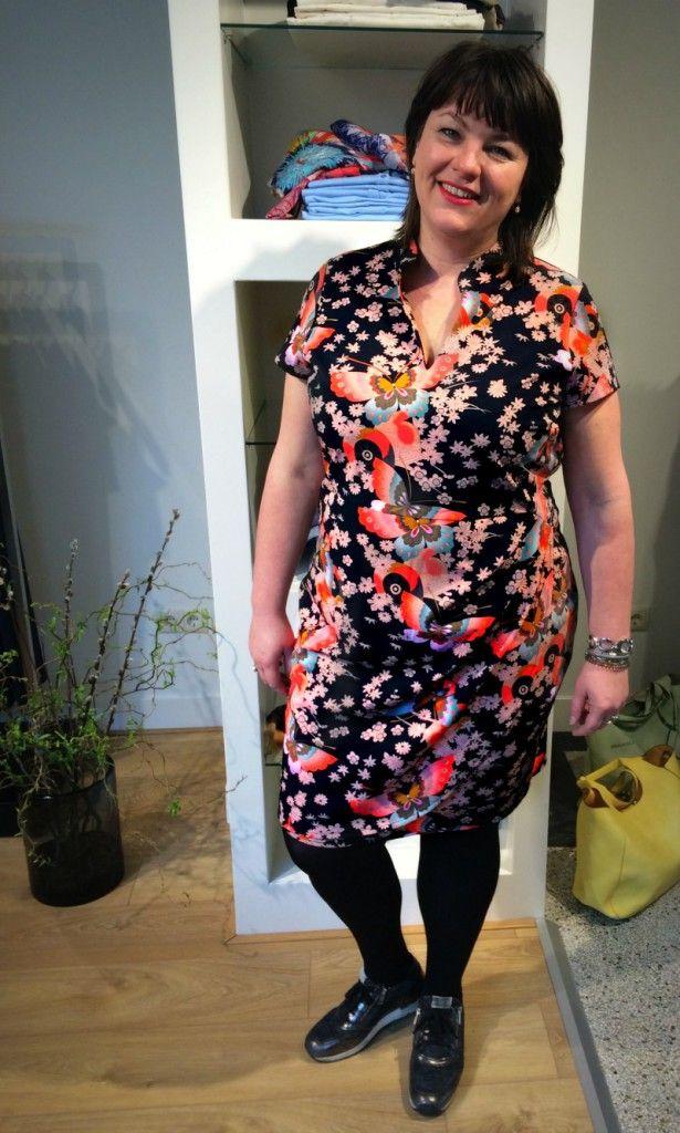 Anna Scholz, Sheego, Signia grote maten, vlinderjurkje, Voorburg, grote maten mode