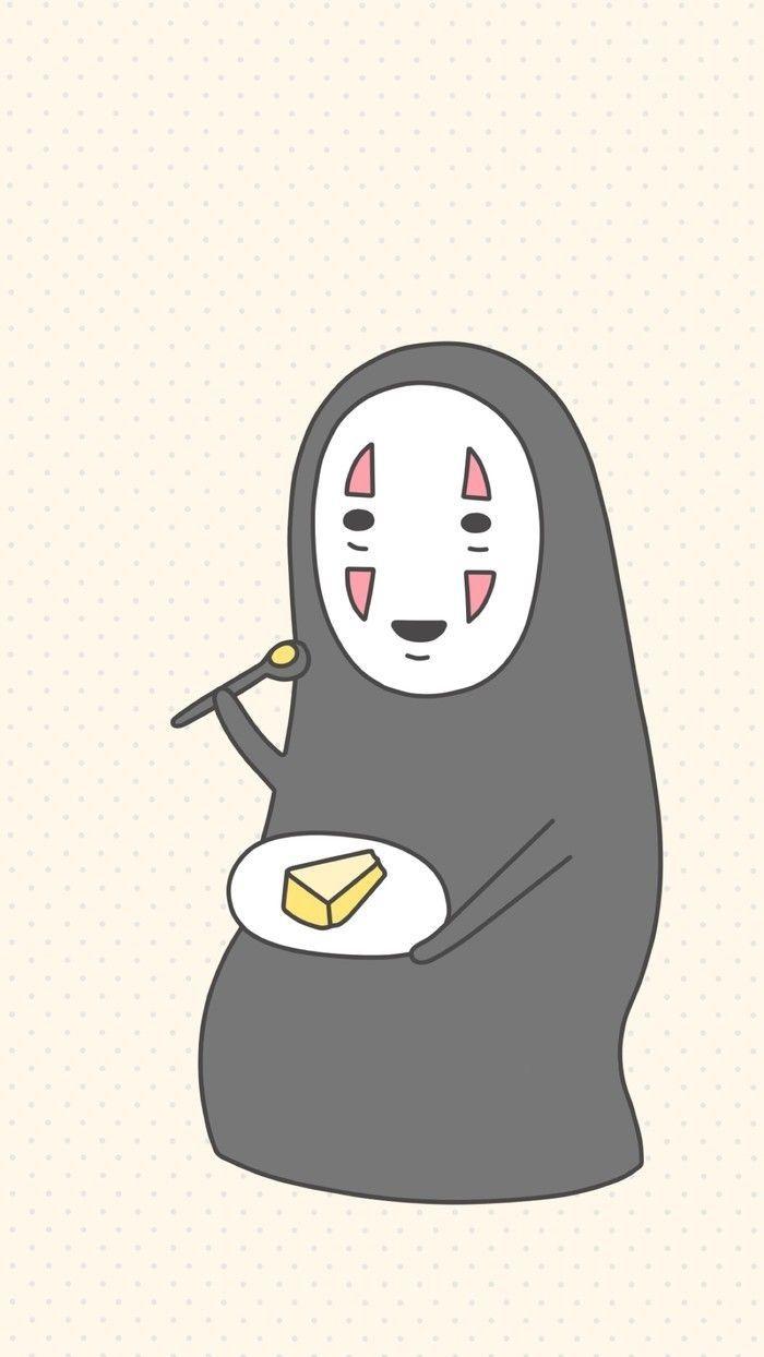 Spirited Away No Face Aesthetic Ghibli Art Cute Cartoon Wallpapers Totoro