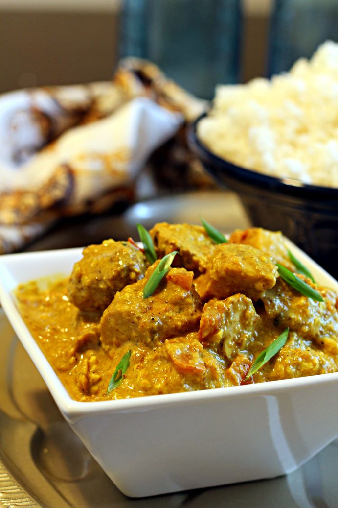 Chicken korma recipe - made this tonight and used all coconut milk (needed it to be dairy free.). Delicious! I also added slivered almonds as a garnish and stir fried tomatoes. Great recipe!