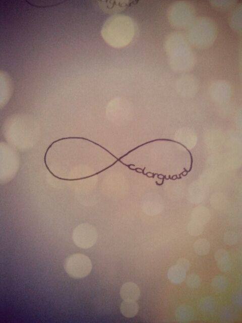 Colorguard <3 ..... I want this as a tattoo but with dance on the other side and instead of color guard just guard because I'm doing more than just summer and there will be better semetry